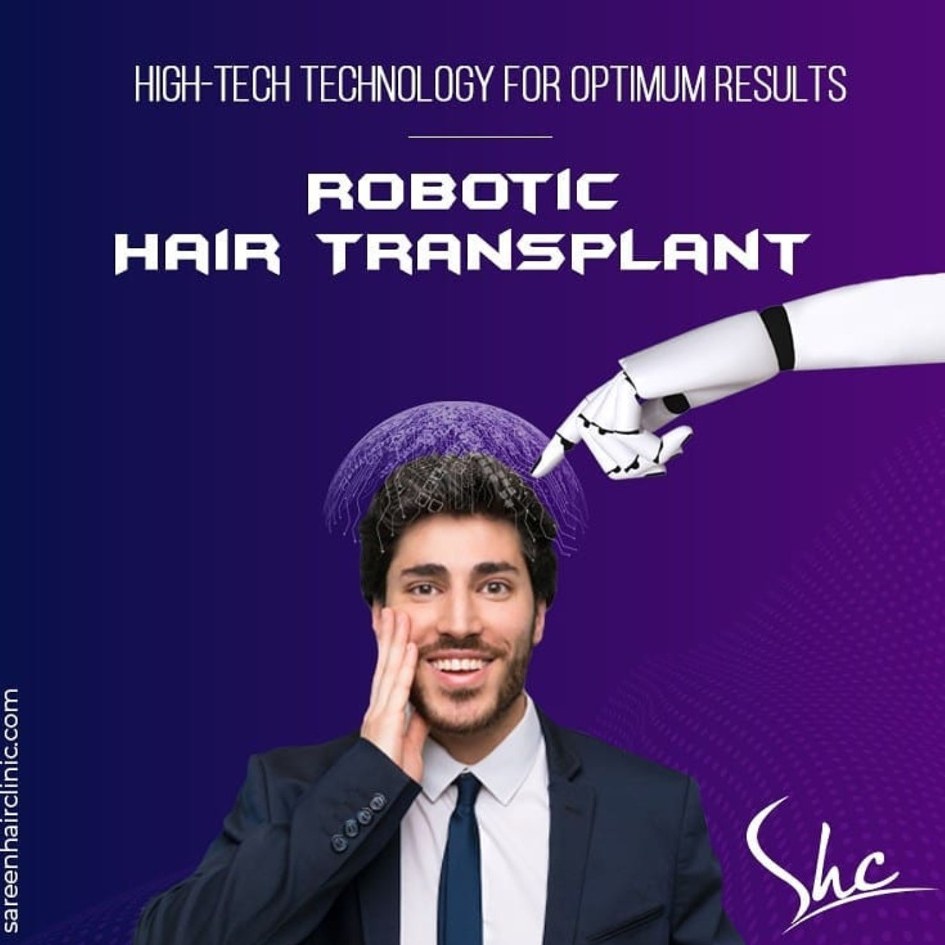 Robotic hair transplant